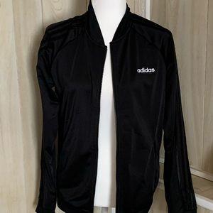 NWT Black adidas track jacket medium